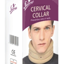 CERVICAL COLLAR SOFT- MEDIUM-FLAMINGO